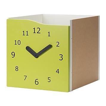 IKEA Kallax - Introducir con puerta decoración verde / reloj de Luz