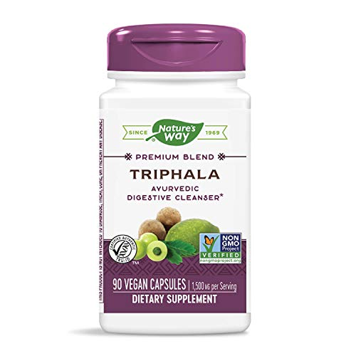 Nature's Way Triphala Capsules, Premium Extract, Dietary Supplement, 1,500 mg per Serving, 90 Count