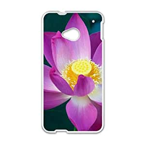 Water Lily HTC One M7 Cell Phone Case White Eeuoh