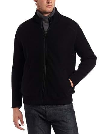 Jet Lag Mens Zip Coat, Black, Large
