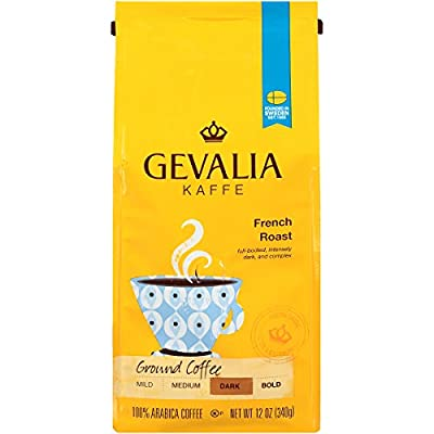 Gevalia French Roast Coffee, Dark Roast, Ground, 12 Ounce Bag from Kraft