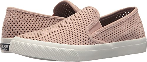 (Sperry Top-Sider Seaside Perforated Slip On Fashion Sneakers, Perfs Rose, 5 US / 35 EU)