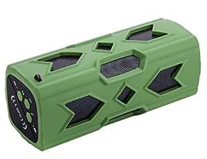 Impermeable Sport Altavoz,, WOWO® Altavoz Bluetooth inalámbrico portátil altavoz Bass sonido Subwoofer Altavoces Bluetooth 4.0con NFC Micrófono integrado 3600mAh batería recargable 12jugando horas