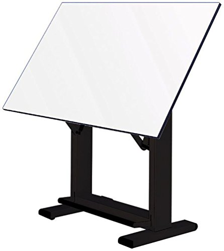 Alvin ET48-3 Elite Table, Black Base/White Top 36