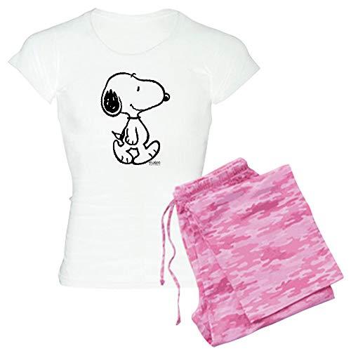CafePress Peanuts Snoopy Pajamas Womens Novelty Cotton Pajama Set, Comfortable PJ Sleepwear]()