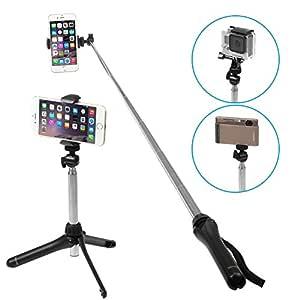 iKross Extended selfie stick Handheld Monopod con trípode función ...