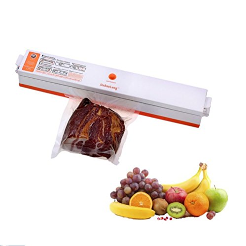 Mini Food Vacuum Sealer, Handheld Magnetic-Type Quickly Fresh Maintaining Seal Packaging Machine including 15 free packing bags (Film Canister Case)