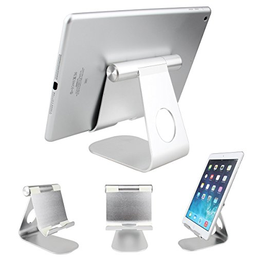 iPad Stand, Dealpeak Universal Aluminum Multi Angle Anti-Slip Phone Stand for All Samsung Galaxy Tablets ,All iPads Mini Retina 2/3/iPad Air/iPad Air 2/iPhone 6/6plus/5s/5 and Amazon Kindle Fire (Ipad Air 2 Stands compare prices)