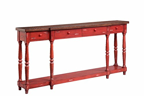 - Stein World Furniture 4 Drawer Console, Fired Briquette