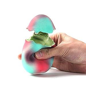 Leap-ss Pet Toy Dinosaur Egg Squeak Puppy Toy Pop Up Egg animal inside Squeaker for Dog.(Dinosaur)