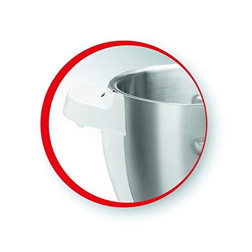 capacidad 4.5 L con eje extra/íble para cocinar 2 recetas sin que tengas que lavar entre ellas Bol de acero inoxidable para el robot de cocina Companion Moulinex XF380E