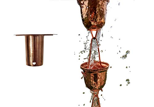 - Sunflower Home & Garden 8 Ft Pure Copper Bell Cup Rain Chain with Bonus Adapter Installer Piece