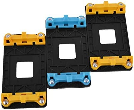 NA CPU Fan Mount Support Base Stand 3pcs Yellow Blue for AMD AM2 AM2 AM3 AM3 FM1
