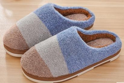 &zhou Inverno e autunno maschio breve peluche cotone pantofole coperta calda pantofole da casa anti - fondo spessore pattino , coffee