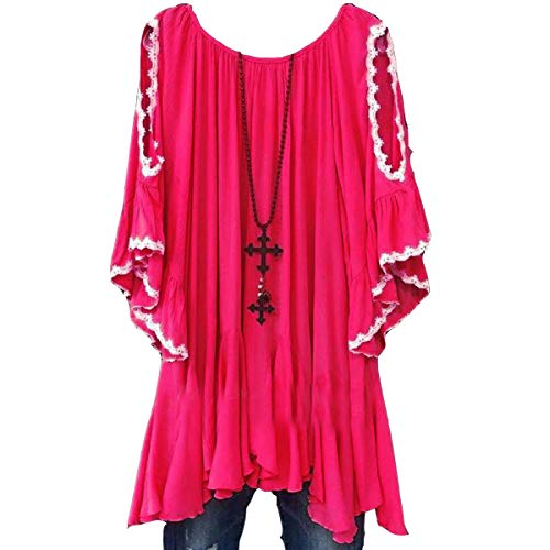 Courtes Jahurto Manches Shirt Manches Courtes Red T xfxA7wnqg