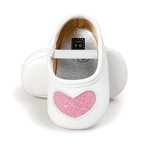 RVROVIC Baby Girl Moccasins Princess Sparkly Premium Lightweight Soft Sole Prewalker Toddler Shoes (M:6-12 months, C010-Pink)