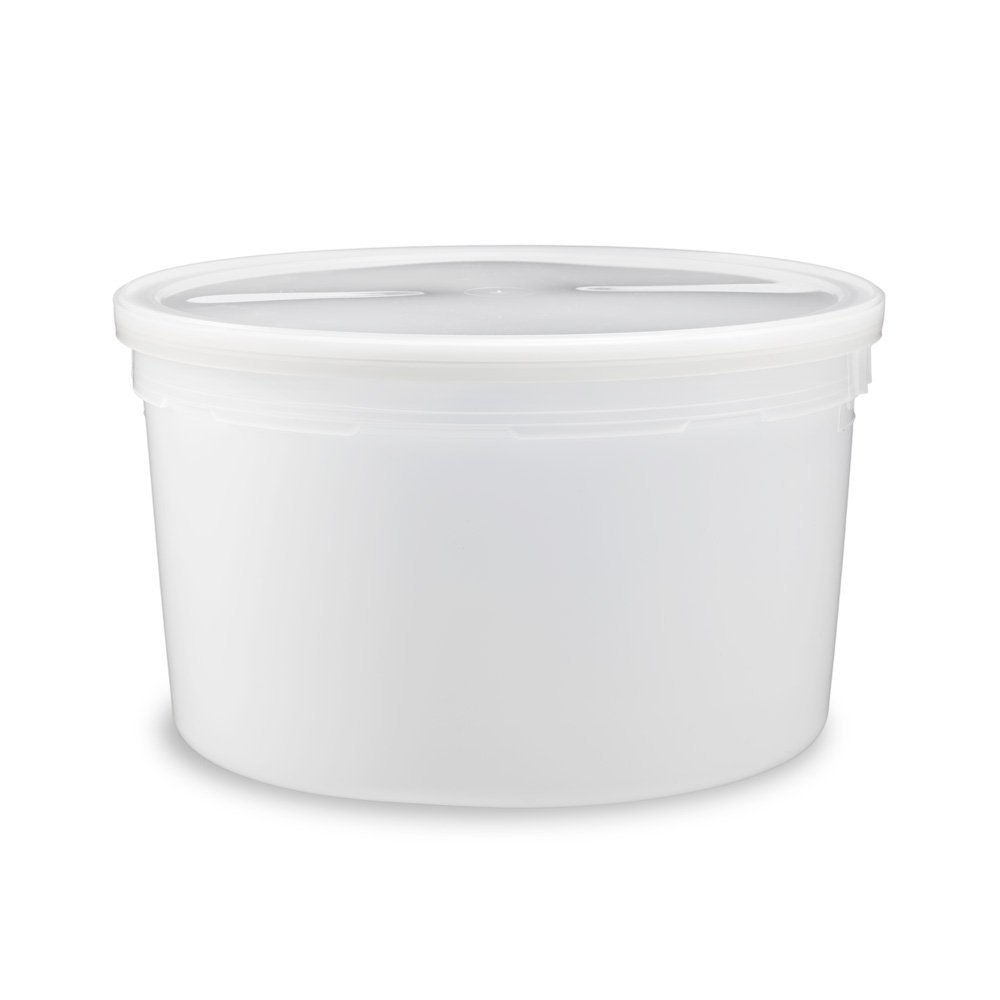 1ガロン食品グレードラウンドコンテナ蓋 – さまざまな色と数量 1 Gallon MPT808128-525397_L808-543882QTY30 B01KYACPGC 半透明|30