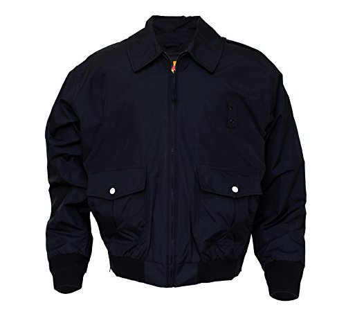 Solar 1 Clothing NY01 NYPD Police Nylon Duty Jacket, Black, Large-Long