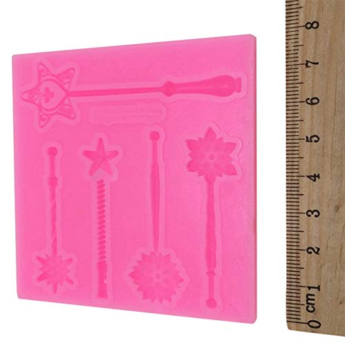 Candy Making Molds, 1Pc Silicone Chocolate Cake Mold Magic Wand Shape Desserts Candy Non-Stick Pans Cakes Decorating Baking Pan Bakeware Tools