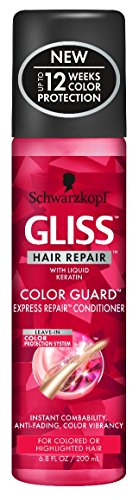 Gliss Conditioner Color Guard Express 6.8 Ounce Spray (200ml) (3 Pack) (Schwarzkopf Shampoo And Conditioner For Colored Hair)