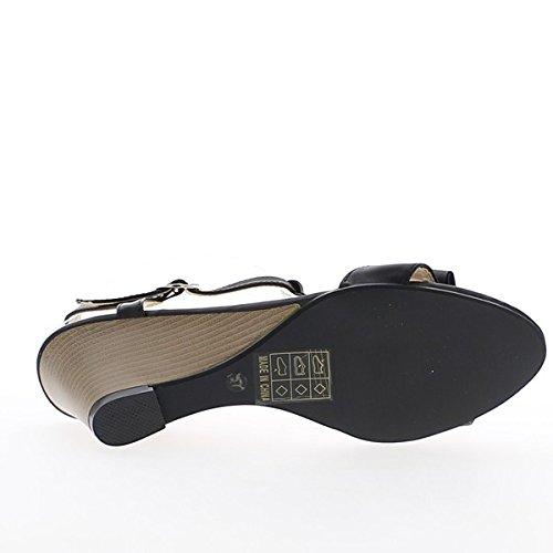 Sandali zeppe bianco di 7cm e 2cm vassoio