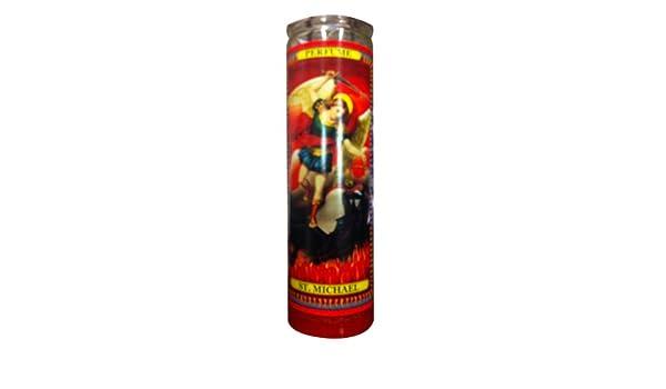 2 St Michael Arch Angel Religious Prayer Candle / San Miguel Novena Vigil  Candle/set of 2 St Michael Prayer Candles 2 Veladoras De San Miguel  Arcangel