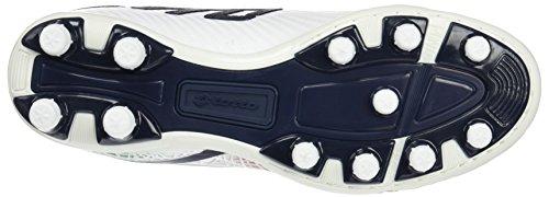 Lotto Lzg VIII 200 FG, Scarpe da Calcetto Uomo Bianco (Wht/Blu Avi)