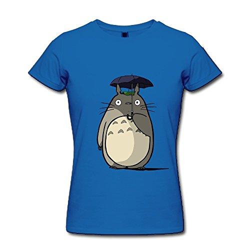 ZZY Fashion Totoro Tshirt - Women's T Shirt RoyalBlue Size M