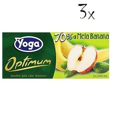 3x Yoga Optimum Zumo de Frutas Con Manzana y Plátano ...