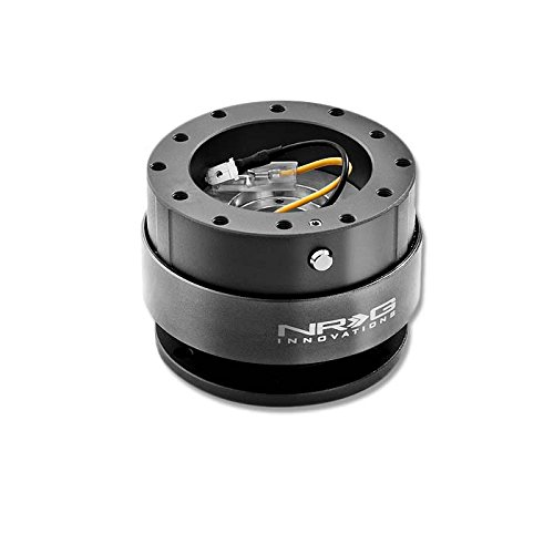 NRG SRK-200GM Steering Wheel Ball Lock Quick Release Adaptor Kit Gen 2.0 (Gun Metal Body w/Titanium Ring)