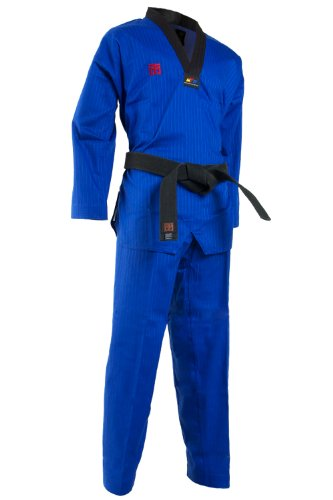 Mooto Korea TaeKwonDo TKD Basic4 Color Dan DoBOk TKD Uniforms 0000 to 6 (Blue, 180(US4)(5.57-5.90ft or 170-180cm))