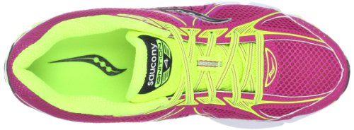SAUCONY Ignition 4 Ladies Running Shoes, Pink/Yellow, UK5.5