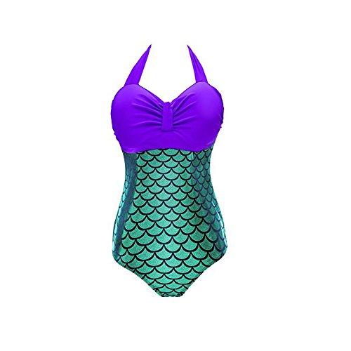 Lora Dew(TM Women's One Piece Swimsuit Mermaid Bikini Plus Size Padded -