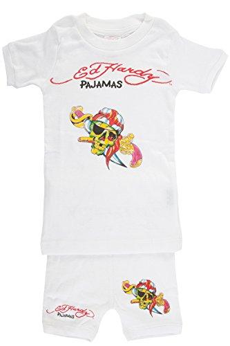- Ed Hardy Pajama Set  - White - Medium