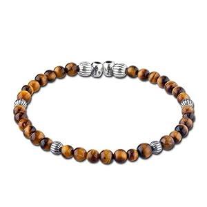 Bead Divine Sterling Silver Tiger Eye Cuff Bracelet by Relios