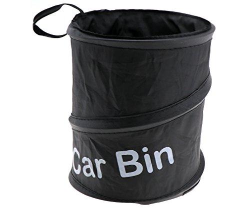Portable Car Trash Can Garbage Wastebasket Rubbish Box Bag Dust Bin Foldable