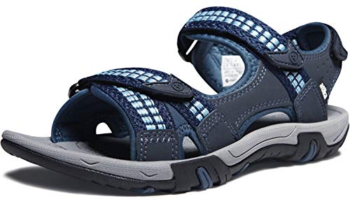 ATIKA Women's Maya Trail Outdoor Water Shoes Sport Sandals, Havana(w213) - Navy & Sky Blue, 6
