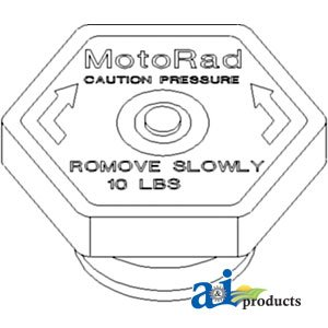 10 LB. Compatible with Case IH Farmall A/&I Products A-A166776 Radiator Cap