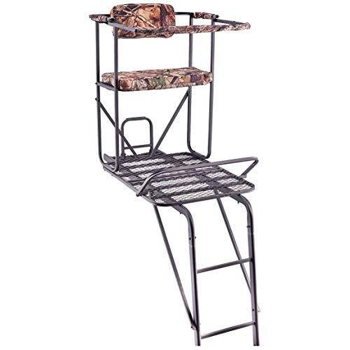 Guide Gear Oversized 18' 1.5-Man Ladder Tree Stand (Hunting Gear For Men Real Tree)