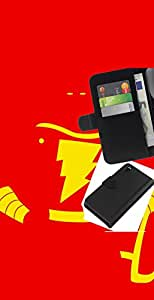 YiPhone /// Tirón de la caja Cartera de cuero con ranuras para tarjetas - Flash Superhéroe - Sony Xperia Z3 D6603