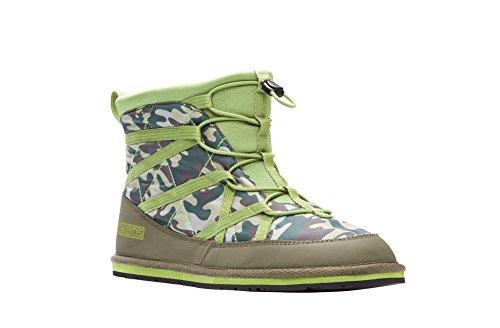 Pakems Ekstrem Boot - Womens Lett Packable Sko - Perfekt For Camping, Fotturer, Truger, Snowboard, Rundt Huset, Og Mer Grønn Camo