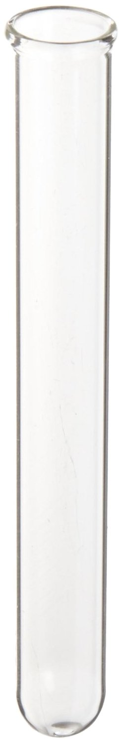 Kimble M18 Soda Lime Glass Mark-M Disposable Culture/Test Tube, with Plain Label (Case of 500)