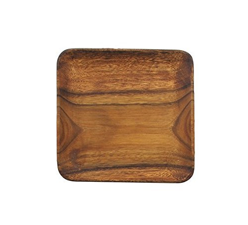 Wood 12 Inch Square Plate - Pacific Merchants K0061 Acaciaware 12-Inch Acacia Wood Square Serving Tray, Natural