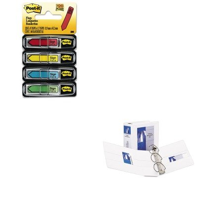 KITAVE09901MMM684SH - Value Kit - Avery Durable View Binder with Two Booster EZD Rings (AVE09901) and Post-it Arrow Message 1/2amp;quot; Flags (MMM684SH) by Avery