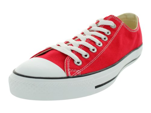 Converse Unisex Chuck Taylor All Star Low Top Red Sneakers - 9 D(M) US