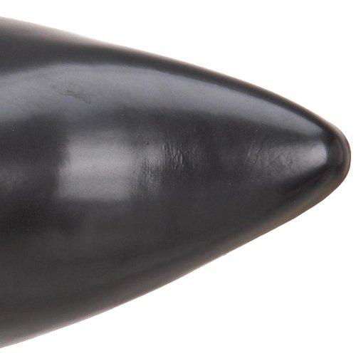 Demonia Brogue-107, Stivaletti Uomo Nero (Schwarz (Schwarz (Blk Nappa Vegan Leather)))