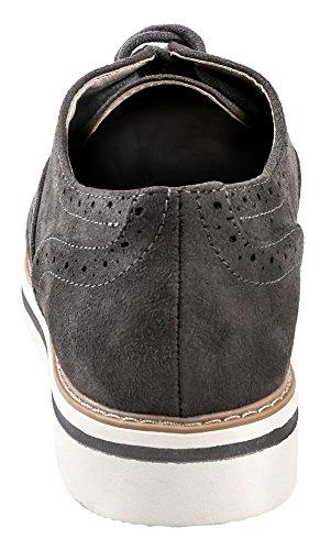 Bas Oxford Blanc Chaussures Femme Oxford Gris Suède
