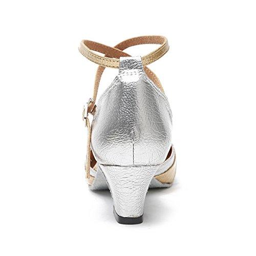 3 Minitoo Corset Argent Femme Salsa Pompes Danse Or Mariage Chaussures Synthtique De Latine Uk 5 rqOqtZ
