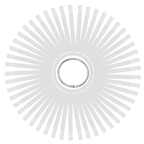 Tipfächer transparent klar mit 50 Präsentations Stäbchen (Tip-Stäbchen) für eigene Kreationen