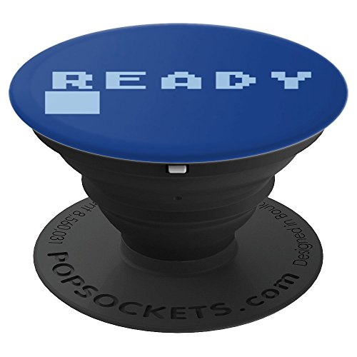 8-bit READY BASIC prompt popsocket phone grip - PopSockets Grip and Stand for Phones and Tablets by Vintage Arcade & Computer Shirts